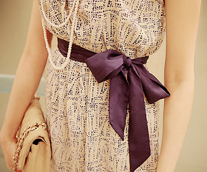 fashion, dress, and bow image