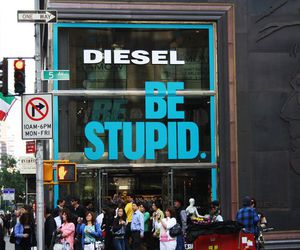 diesel, new york, and shopping image