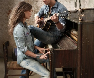 couple, music, and piano image