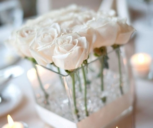 candles, flowers, and luxury image
