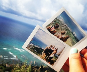 friends, beach, and blue image