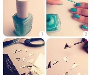blue, Paper, and nail image