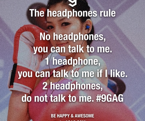 9gag, funny, and headphones image