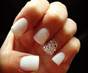 nails, white, and acrylic image