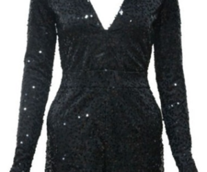 fashion, sequin dress, and jumpsuit image