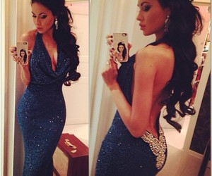 dress, blue, and hair image