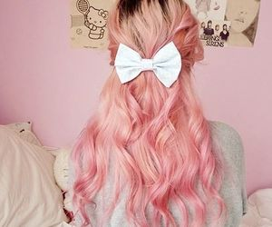 pink, hair, and cute image