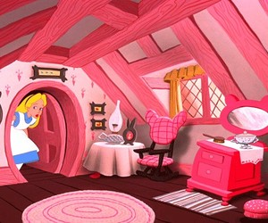 alice in wonderland, disney, and pink image