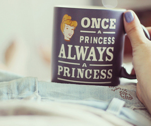 drink, quote, and princess image