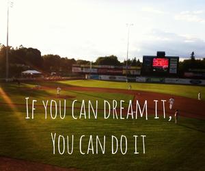 baseball, Dream, and girl image