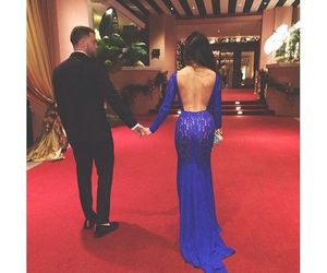 blue dress, classy, and luxury image