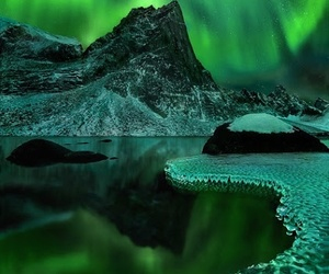 aurora, nature, and green image