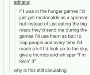 McDonalds, the hunger games, and katniss image