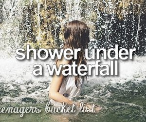 waterfall and shower image
