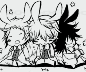 pandora hearts, gilbert nightray, and elliot nightray image
