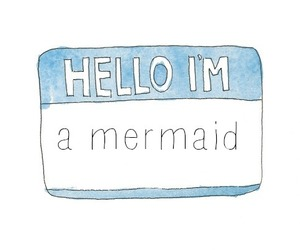 mermaid, hello, and funny image
