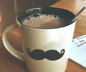 coffee, mustache, and cup image