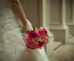 bouquet, Couture, and dress image