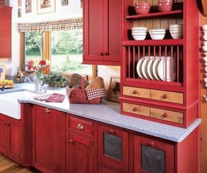 home, red, and dishes image