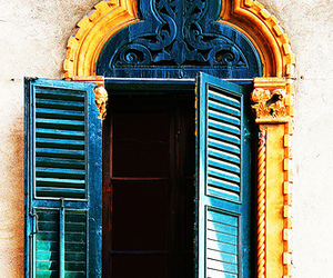 window, architecture, and blue image