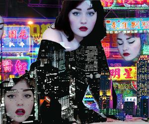 digital art, girl, and glitch image