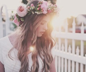 fashion, flowers, and friend image