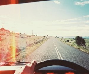 summer, road, and travel image