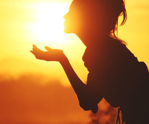 bright, sun, and girl image