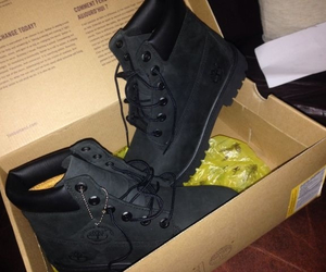 timberland, shoes, and black image