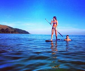 girl, surf, and sup image