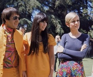 twiggy, 60s, and sonny and cher image
