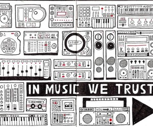 music, drawing, and trust image