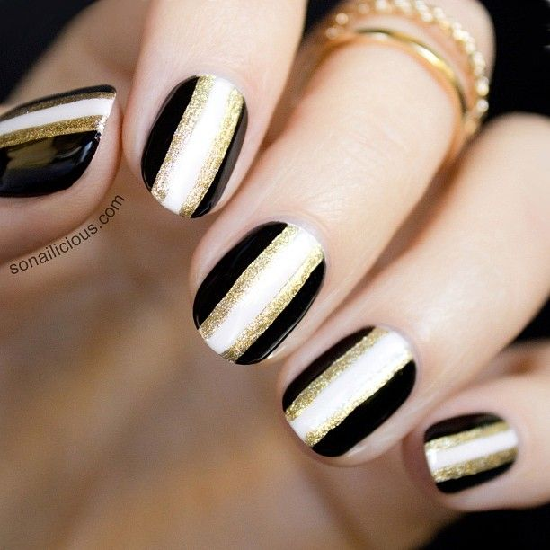 Black gold cream nails back feet hands back prinsesfo Gallery