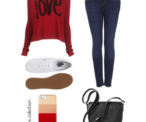 outfit, sweater, and love image