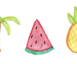 fruit, palm trees, and pineapple image