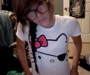 eyepatch, glasses, and hello kitty image