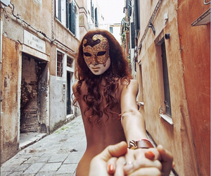 mask, venice, and travel image