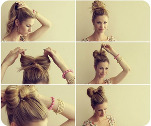 beautiful, bow, and hair tutorial image