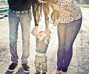 family, baby, and tattoo image