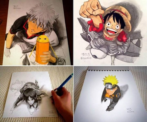 naruto, one piece, and art image