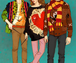 harry potter, hipster, and hermione granger image