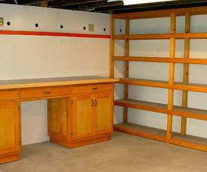 garage, modern cabinet style, and modern cabinet color image