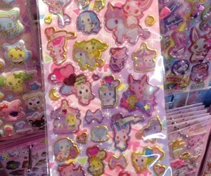 kawaii, pink, and stickers image