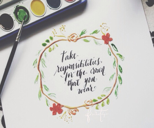 calligraphy, watercolor, and doodle image