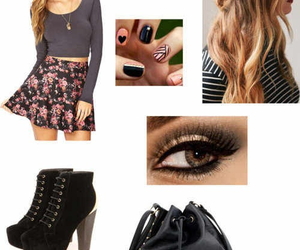 hairstyle, heels, and nails image