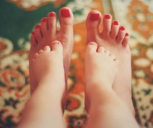 baby, feet, and mom image