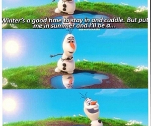 frozen, happy, and snowman image