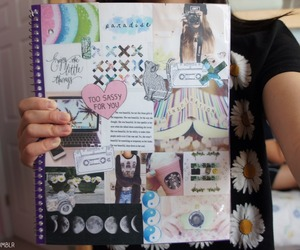 Collage, diy, and notebooks image