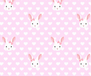 rabbit, background, and bunny image