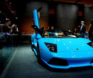 car, blue, and photography image